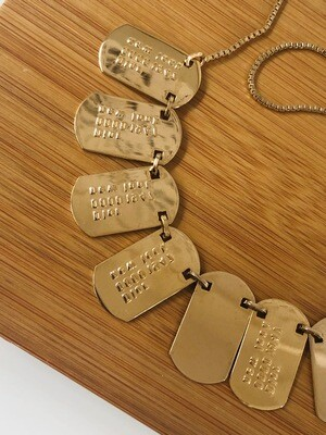 VINTAGE CHRISTIAN DIOR ID PLATE DOG TAG NECKLACE CHOKER
