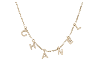 CHANEL LETTER CHARM NECKLACE
