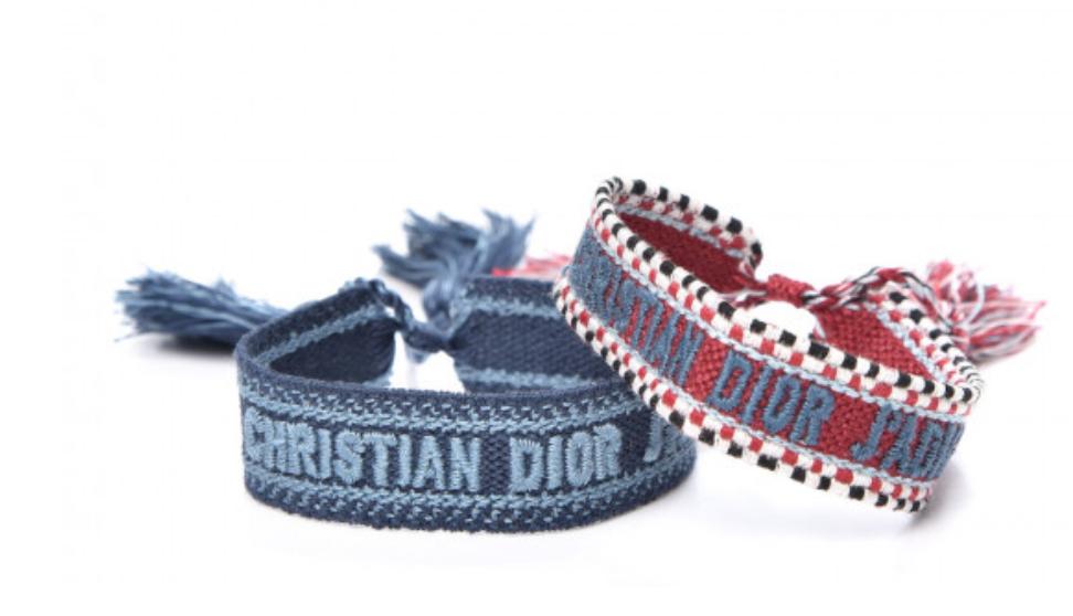 CHRISTIAN DIOR MONOGRAM J'ADORE LOGO FRIENDSHIP BRACELETS - 2 PAIRS