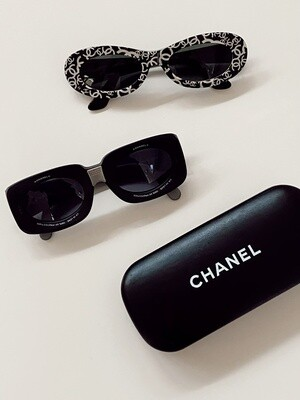 VINTAGE CHANEL FILM CAMERA LENS SUNGLASSES - RARE RUNWAY ITEM