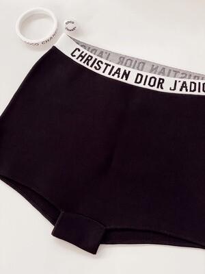 "CHRISTIAN DIOR J'ADORE LOGO SHORTS - SMALL - 26"" WAIST"