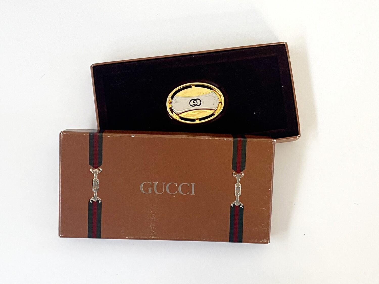 VINTAGE GUCCI GG MONOGRAM LOGO MONEY CLIP WITH BOX