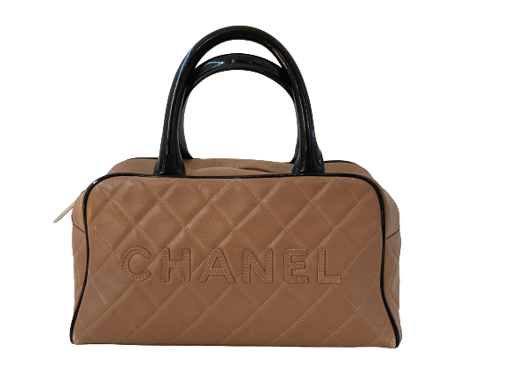 CHANEL VINTAGE QUILTED LEATHER BOWLER BAG