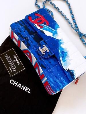 CHANEL CC SURF MEDIUM FLAP SHOULDER BAG