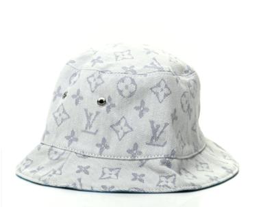 LOUIS VUITTON LV MONOGRAM BLUE DENIM BUCKET HAT