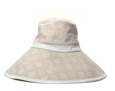 LOUIS VUITTON LV MONOGRAM WIDE BUCKET HAT BEIGE WHITE