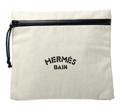 HERMES PARIS BAIN TOILETRIES BAG POUCH