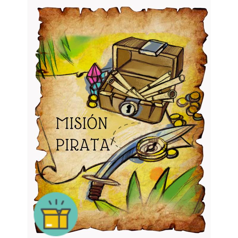 La Misión Pirata - Escape room en caja - todo incluido - 15 minutos de preparación