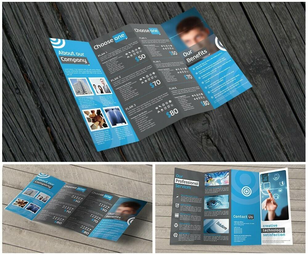 100 11X17 Premium Brochures