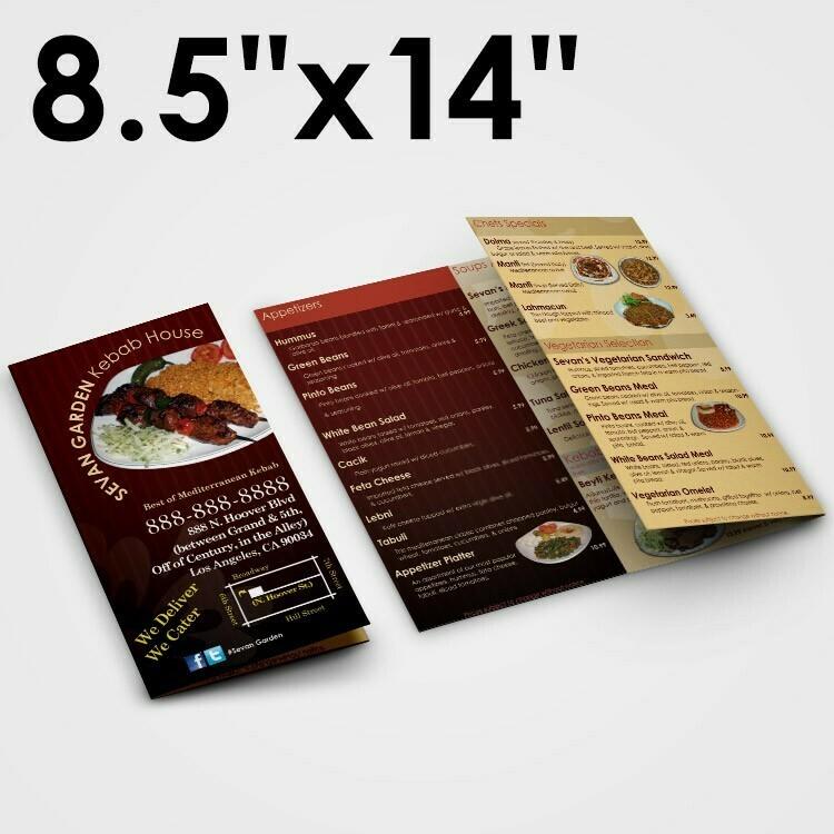 100 8.5x14 Premium Brochures