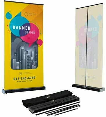 Indoor Retractable Banner with Stand
