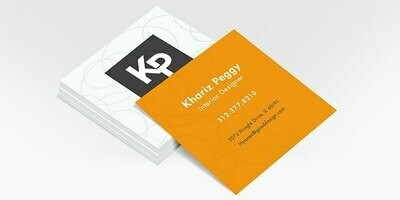 5000 3X3 Square Business Cards