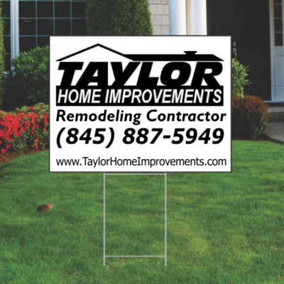 10 Rectangle Yard Signs