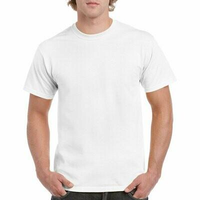 White Gildan Heavy Cotton T-Shirt 100% 5.3oz.
