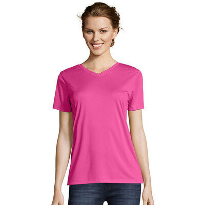 Hanes Ladies COOL DRI Performance V-Neck T-Shirt - 483V