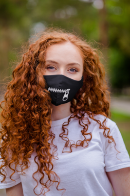Zipped Shut Face Mask