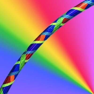 """Rainbow Euphoria"" Mosaic Hoop"