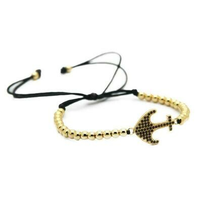 Anchor - Macrame Gold and CZ
