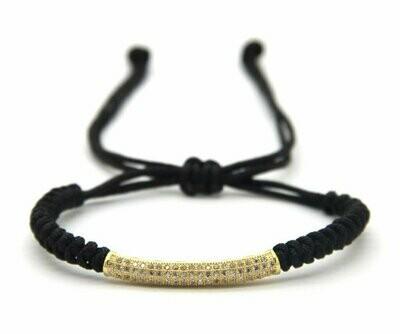 CZ Bar Adjustable Bracelet