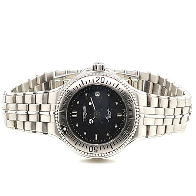 Wittnauer Black Face Stainless Steel Strap Watch