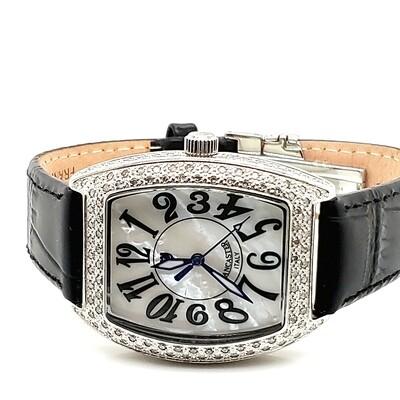Lancaster Black Strap Leather Watch