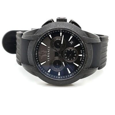 Versace Character Black Rubber Watch