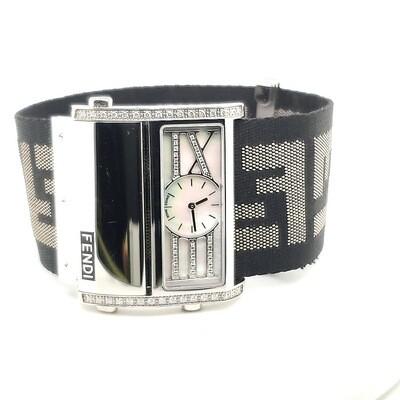 Fendi Black Strap Watch