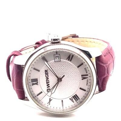 Wenger Burgundy Strap Adjustable Watch