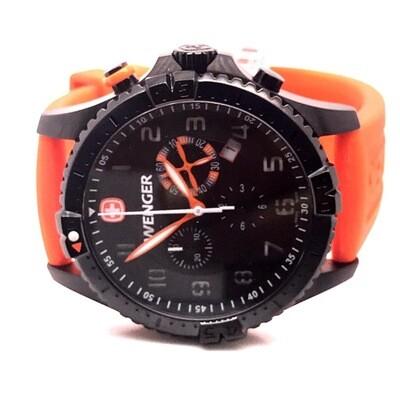 Wenger Orange Strap Watch Set