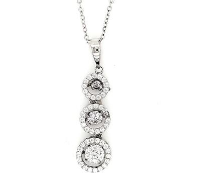 Dancing Diamonique Sterling Silver CZ Necklace