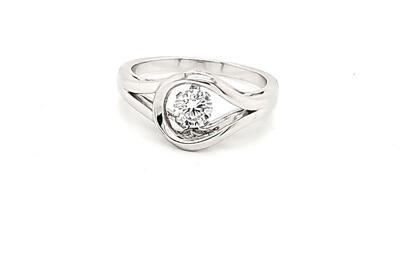 Dancing Diamonique Sterling Silver CZ Ring