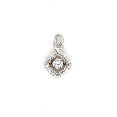 Dancing Diamonique Sterling Silver CZ Pendant