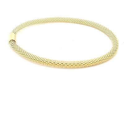 Sterling Silver Yellow Flexible Bracelet