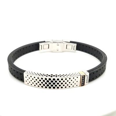 Baraka Black Rubber Bracelet