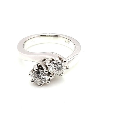 Ladies White Gold Solitaire Ring
