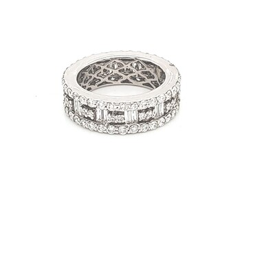 Ladies Baguette and Diamond Eternity Band
