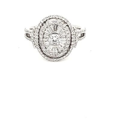 Ladies Baguette and Diamond Ring