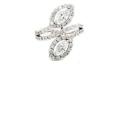 Ladies White Gold Solitaire Diamond Ring