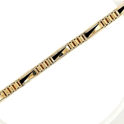 Ladies Gold Onyx Bracelet