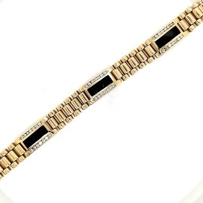 Men's Onyx Diamond Bracelet