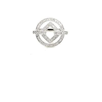 Ladies White Gold Diamond Ring