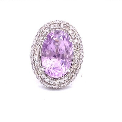 Ladies White Gold Amethyst Ring