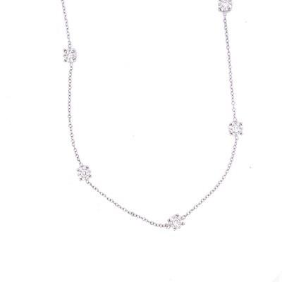 Ladies White Gold Diamond Necklace