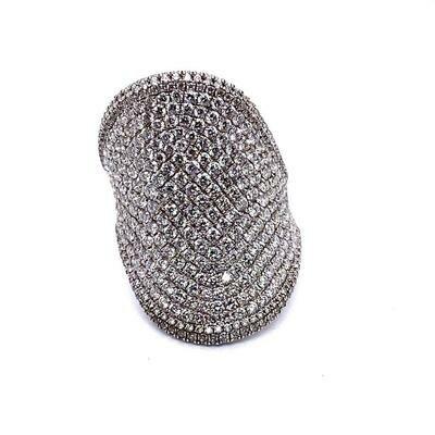 Ladies White Gold Pave Diamond Ring