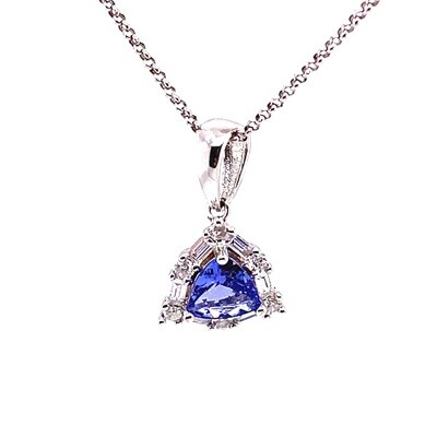Ladies Silver Tanzanite Necklace