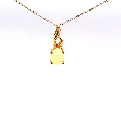 Ladies Yellow Gold Opal Necklace
