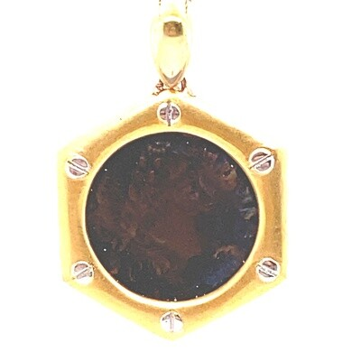 Ladies Yellow Gold Coin Pendant