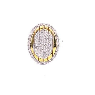 Ladies Two Tone Diamond Ring