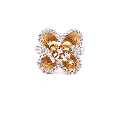 Ladies Yellow Gold Diamond Ring