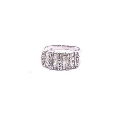 Ladies White Gold Baguette Diamond Ring